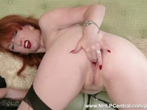 Empty your balls watching busty redhead..