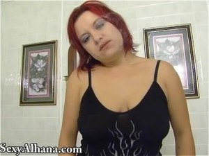 Smoking and Pissing Toilet Red Head -..
