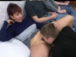 Russian Mom Fuck Son & His Friends..