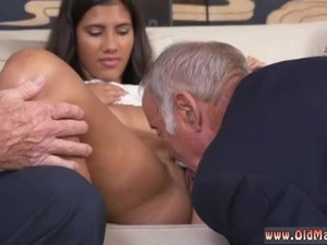 Brianna's old man playing with pussy hot..